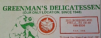 Greenman's Deli is one of Philly.