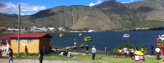 Laguna de Yahuarcocha is one of Ecuador.