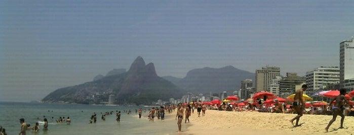Playa de Ipanema is one of The Beaches in Rio de Janeiro, Brazil.