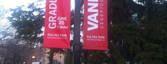Vanier College is one of Lieux qui ont plu à Martin.