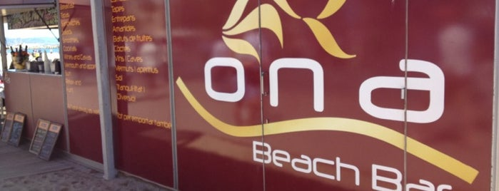 Ona Beach Bar is one of chiringuitos playa barcelona.
