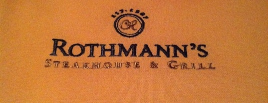 Rothmann's Steakhouse is one of NYC Restaurant Week Downtown.