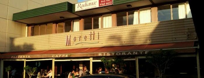Moretti Ristorante Pizzeria is one of Tempat yang Disukai Simon.