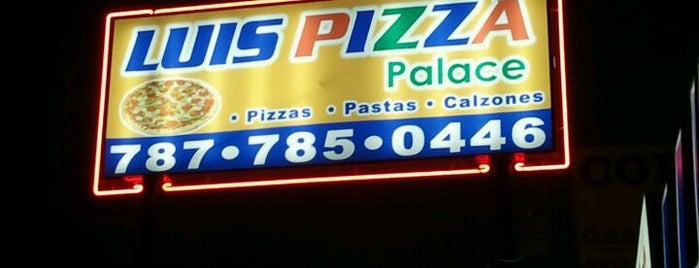 Luis Pizza Palace is one of Locais curtidos por Cristina.