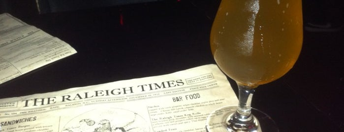 The Raleigh Times Bar is one of 100 Beer Bars to Try.