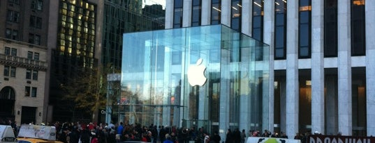Apple Fifth Avenue is one of NY.