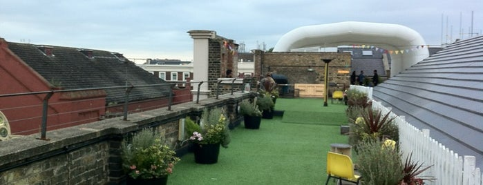 Dalston Roof Park is one of London date places.