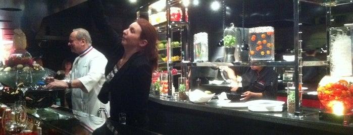 L'Atelier de Joël Robuchon is one of Eating Las Vegas: 50 Essential Restaurants 2013.