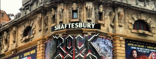 Shaftesbury Theatre is one of london.