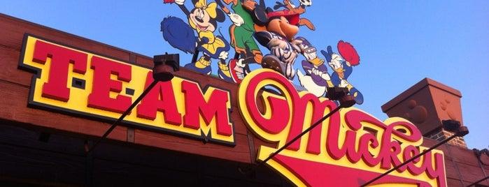 Team Mickey Athletic Club is one of Disney Springs.