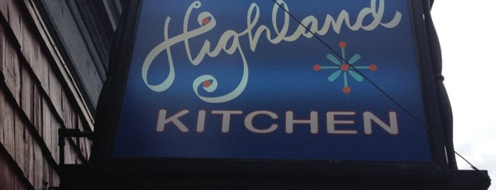 Highland Kitchen is one of Boston.