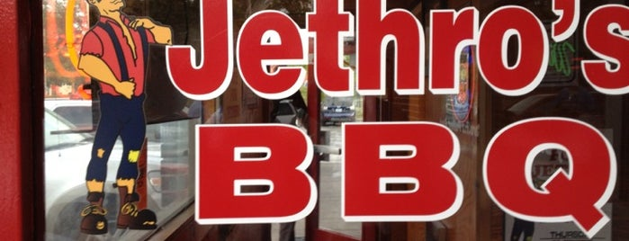 Jethro's BBQ is one of Drew's favorites.