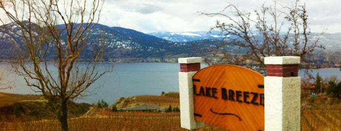 Lake Breeze Vineyards is one of 10 Best Okanagan Wineries.