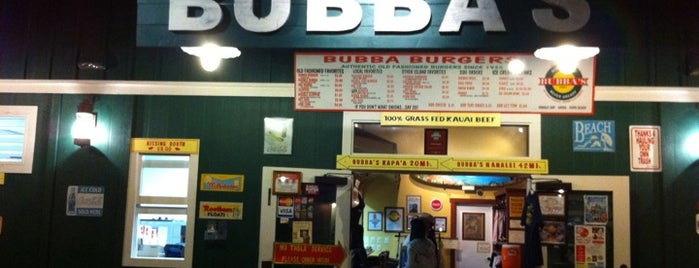 Bubba Burgers is one of Kauai's Top 10 for Food, Drinks, and Dessert.