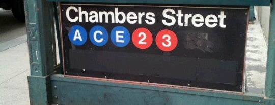MTA Subway - Chambers St (A/C/E) is one of Tempat yang Disukai Will.