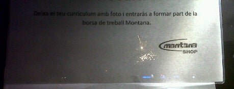 Montana outlet is one of Ofertas de Trabajo Comercios Barcelona.