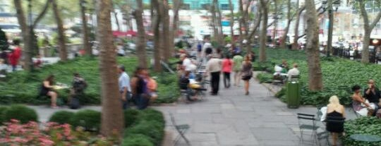 Bryant Park is one of David's New York favourites.