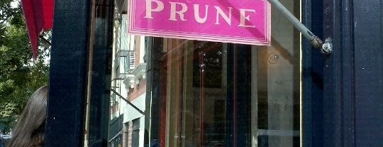 Prune is one of NYC Restaurant Master List.