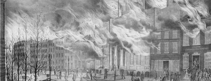 Site of Great New York Fire (1835) is one of IWalked NYC's Lower Manhattan (Self-guided Tour).