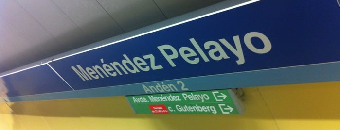Metro Menéndez Pelayo is one of Madrid.