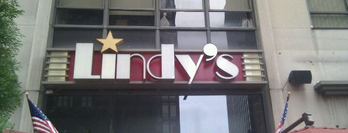 Lindy's is one of The Gray Line New York Eat and Play Card.