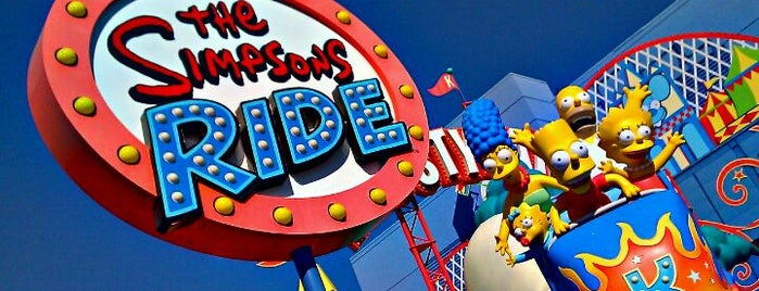 The Simpsons Ride is one of Universal Studios Hollywood Loop.