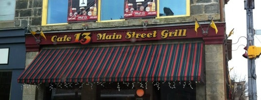 Cafe 13 Main Street Grill is one of Pubs Galore!.