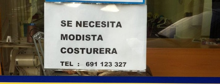 Modistería is one of Ofertas de Trabajo Comercios Barcelona.