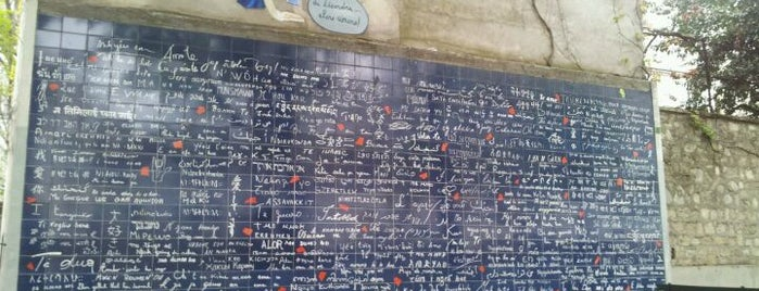 "Le Mur des ""Je t'aime"" is one of Must-Visit ... Paris."