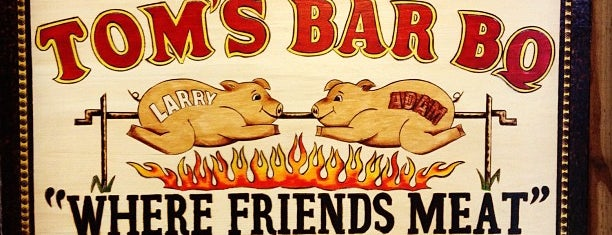 Tom's Bar-B-Q is one of Diner, Drive-Ins, & Dives - Southern US.