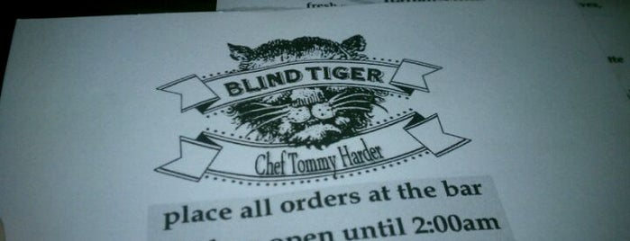 The Blind Tiger is one of Draft Magazine Best Beer Bars.