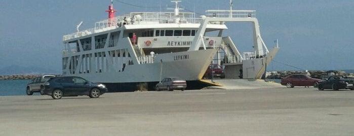 """Lefkimmi"" Ferry is one of สถานที่ที่ Miguel ถูกใจ."