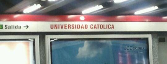 Metro Universidad Católica is one of SCL.