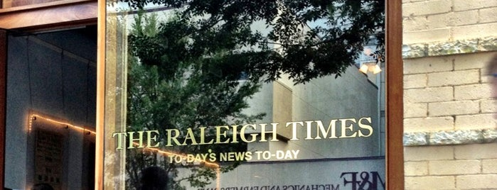 The Raleigh Times Bar is one of Must-visit Nightlife Spots in Raleigh.
