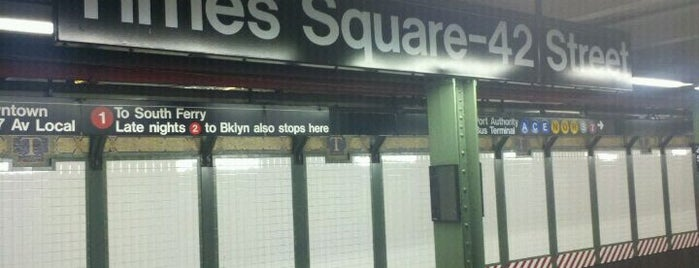 MTA Subway - 42nd St/Times Square/Port Authority Bus Terminal (A/C/E/N/Q/R/W/S/1/2/3/7) is one of New York.