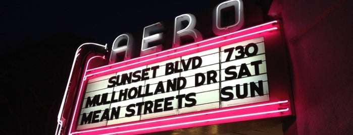 Aero Theatre is one of Los Angeles.