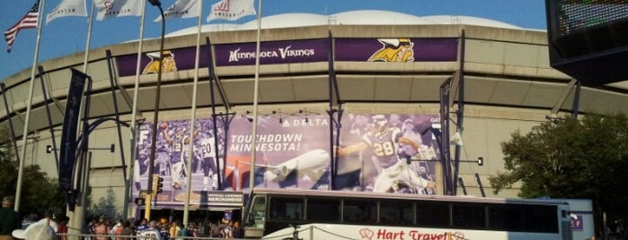 Hubert H. Humphrey Metrodome is one of NFL Stadiums.