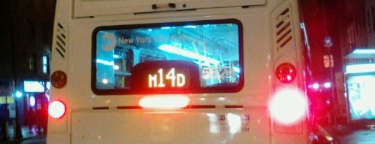 MTA Bus - W. 14th Street & 8th Avenue (M12/M14A/M14D) is one of Tempat yang Disukai Diana.