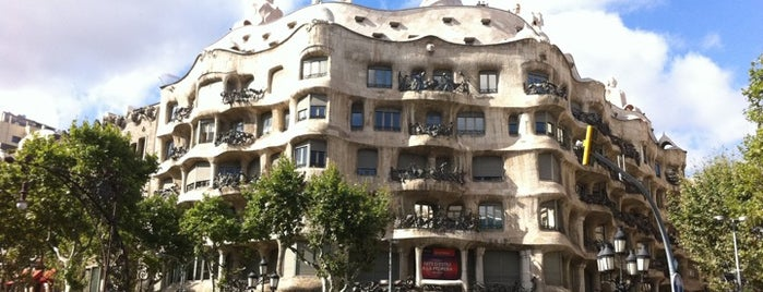 La Pedrera (Casa Milà) is one of bcn.