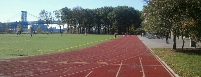 East River Park Track is one of Tempat yang Disukai Nick.