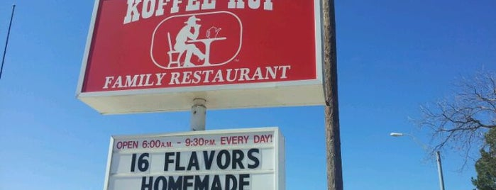 Koffee Kup Family Restaurant is one of TM 50 Best Burgers in Texas.