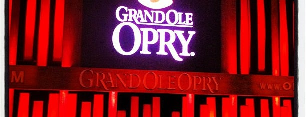 Grand Ole Opry House is one of Nashville TN.