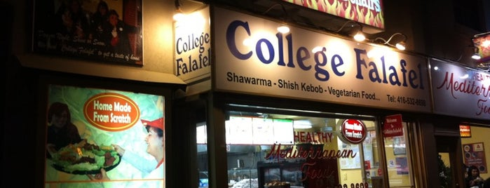 College Falafel is one of Food Places.