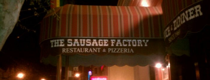 The Sausage Factory is one of Lieux qui ont plu à Alden.