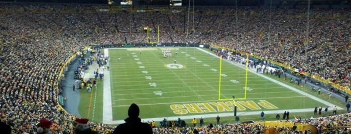 Lambeau Field is one of Great Sport Locations Across United States.