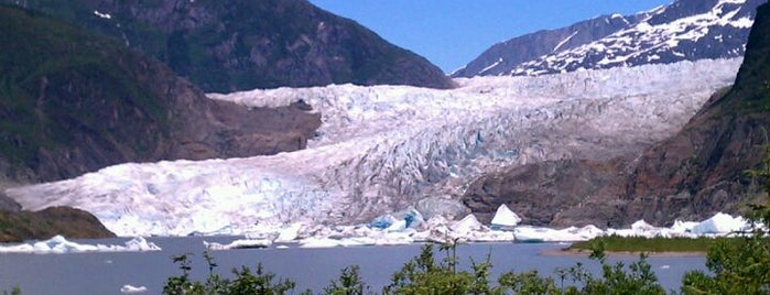 Mendenhall Glacier is one of Alaska Trip.