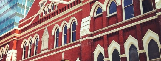 Ryman Auditorium is one of Nashville.