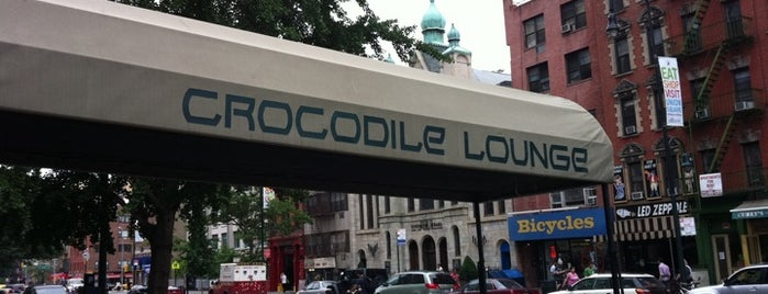 Crocodile Lounge is one of Free Food in NYC (?!).