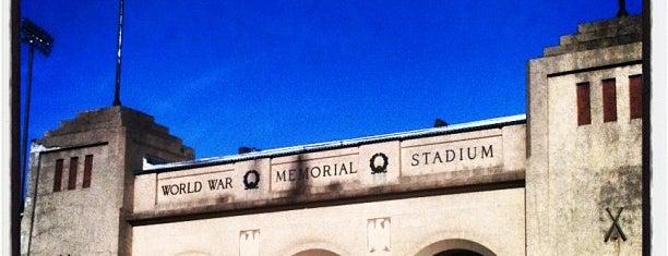 World War Memorial Stadium is one of Greensboro, NC.