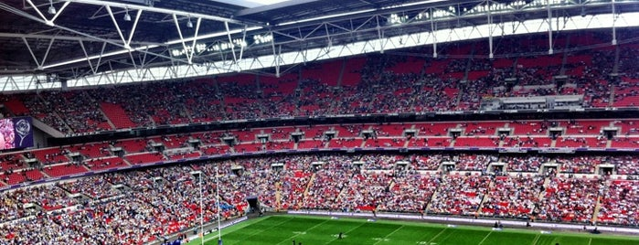 Wembley Stadium is one of Stadiums I've watched sport at.